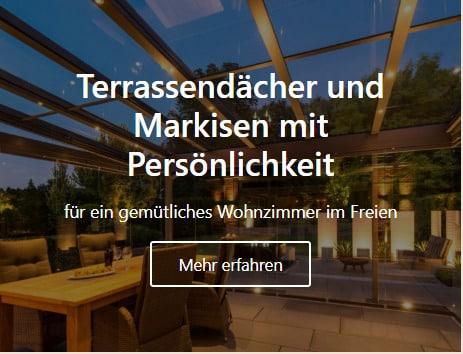 Terassendächer und Markisen in Schüttorf vom Tischler