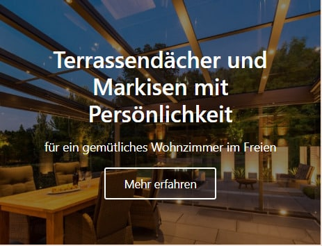 Terassendächer und Markisen in Rheine vom Tischler