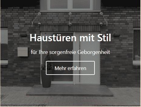 Haustüren und Türen in Münster vom Schreiner