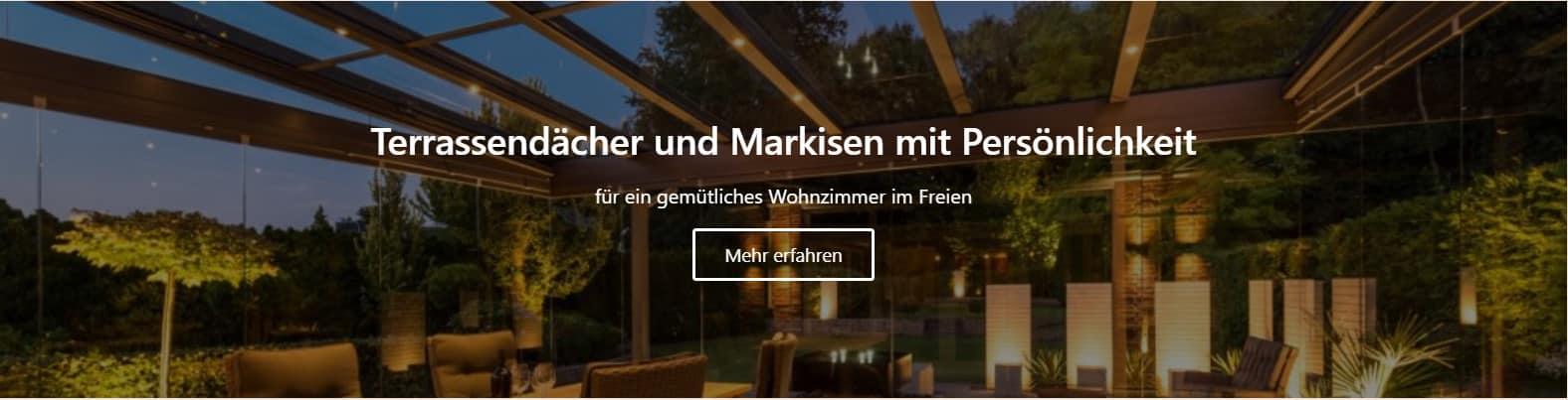Terassendächer und Markisen in Münster vom Tischler